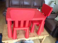 IKEA kids table & chairs set
