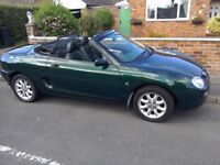 MG MGF racing green genuine looked after sports car!
