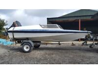 14ft Flecther Dart Speedboat with trailer