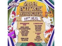 Elrow day ticket 19th August Olympic park Saturday Sat