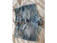 River island denim shorts size 8