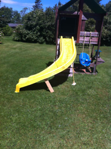 Baby swing seat and slide