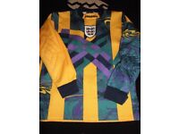 vintage england football shirt david seaman