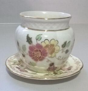 Miniature Zsolnay Porcelain Butterfly Plate & Miniature Catchpot