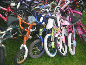 Lots of Childrens Bikes Available