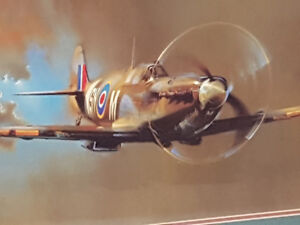 Beautiful Framed Spitfire Print. Mint condition.