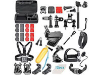 New 60 pcs Accessories Set Kit for GoPro Hero 2 3 3+ 4 5 Pole Head Chest Mount Strap