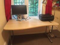 Wooden office / study desk with optional shelves