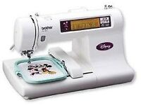 Brother Disney embroidery machine with frames