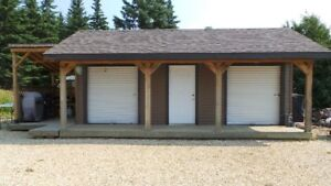Outdoor Kitchen, Washhouse and Storage Shed