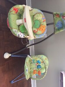 Swing w/ cord and bouncy chair