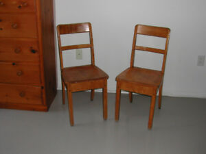 Solid Maple Chairs. Only $10.00 each !