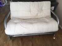 Double metal framed futon