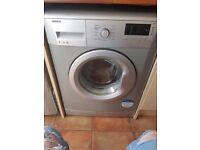 Silver washing machine