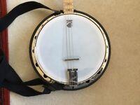 Deering Goodtime Irish tenor banjo, bag, stand etc.
