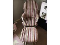 Bespoke Dutalier Rocking Chair and Footstool