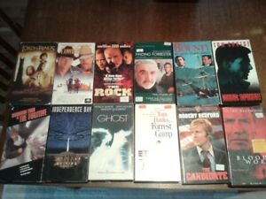 Nice Selection of VHS Movies- Only $2 each