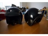 2x Spada open-face motorcycle helmet
