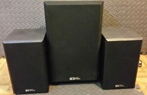 Sound Dynamics Speakers and Powered Subwoofer 2.1 Home Stereo