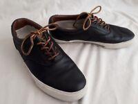 Ralph Lauren POLO Vaughn Saddle Black Leather Shoe