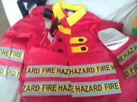 New Kids boys fireman dress up jacket 3-4 years Brand New With Tag