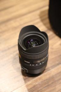 Lentille grand-angle sigma 8-16mm F4.5-5.6 DC HSM CANON