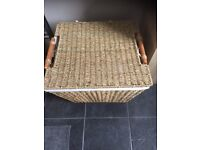 LARGE WICKER BASKET - with removable cotton lining; use for storage, picnics or make a hamper gift