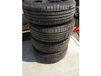 Ford Focus set of 4 steel wheels with 4 almost new tyres 205 55 16