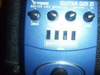 behringer gdi 21 guitar amp modeler
