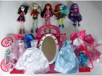 Monster High Dolls + My Little Pony Equestria Girls Dolls + Dresses, Accessories Toy Bundle / Joblot
