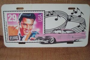 Elvis Presley  car or truck plate