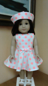 Hand Made  Dot Dress & Hat