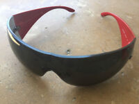 Designer Versace Women's Sunglasses (Red and Black) barely used!