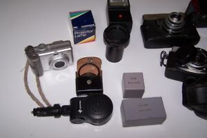 SPCA- Older Camera Equipment with Camera Bag