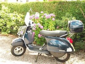 Vespa PX 150 62 plate, backbox, front carrier, pillion footrests, full screen included, MOT.