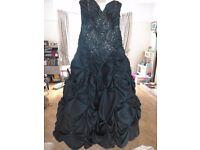 Maggie Sottero Flirt ballgown / prom dress, size 8 Shimmer Teal