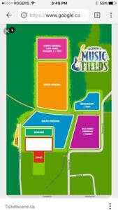 Music in the fields camping- south premium