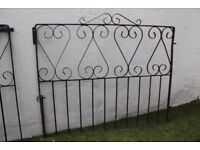 Pair of wrought-iron gates for driveway, £40 from E11