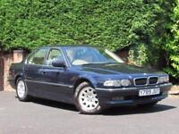 2001 E38 BMW 7 SERIES 728I Sport, 1 OWNER - BLUE - AUTOMATIC - CREAM LEATHER