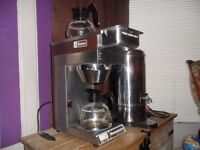 Hot water urn and 2 pot filter coffee machine