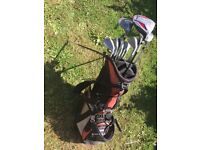 Golf club set with stand bag