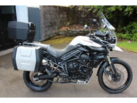 Triumph Tiger 800XC with full triumph luggage in excellent condition.