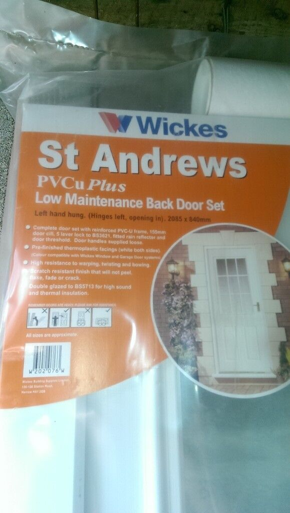 Wickes Exterior Upvc Back Door Set Window And Front Door In