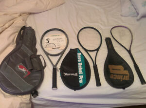 Tennis Raquets - Spalding, Prince (New Overgrips and Stringing)