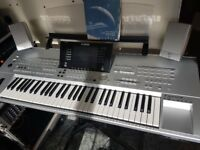Yamaha Tyros Keyboard with Speakers and Stand