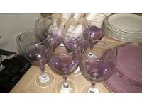 Purple dinning set
