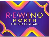 REWIND FESTIVAL NORTH - 2 TICKETS - ADULT WEEKEND + CAMPING - £99.00 EACH - CAPESTHORNE HALL