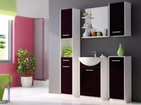 Bathroom Set NANCY White / Black