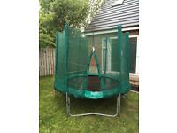 8ft trampoline with safety net and perimeter cushion