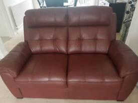 3 + 2 italian leather sofa suite